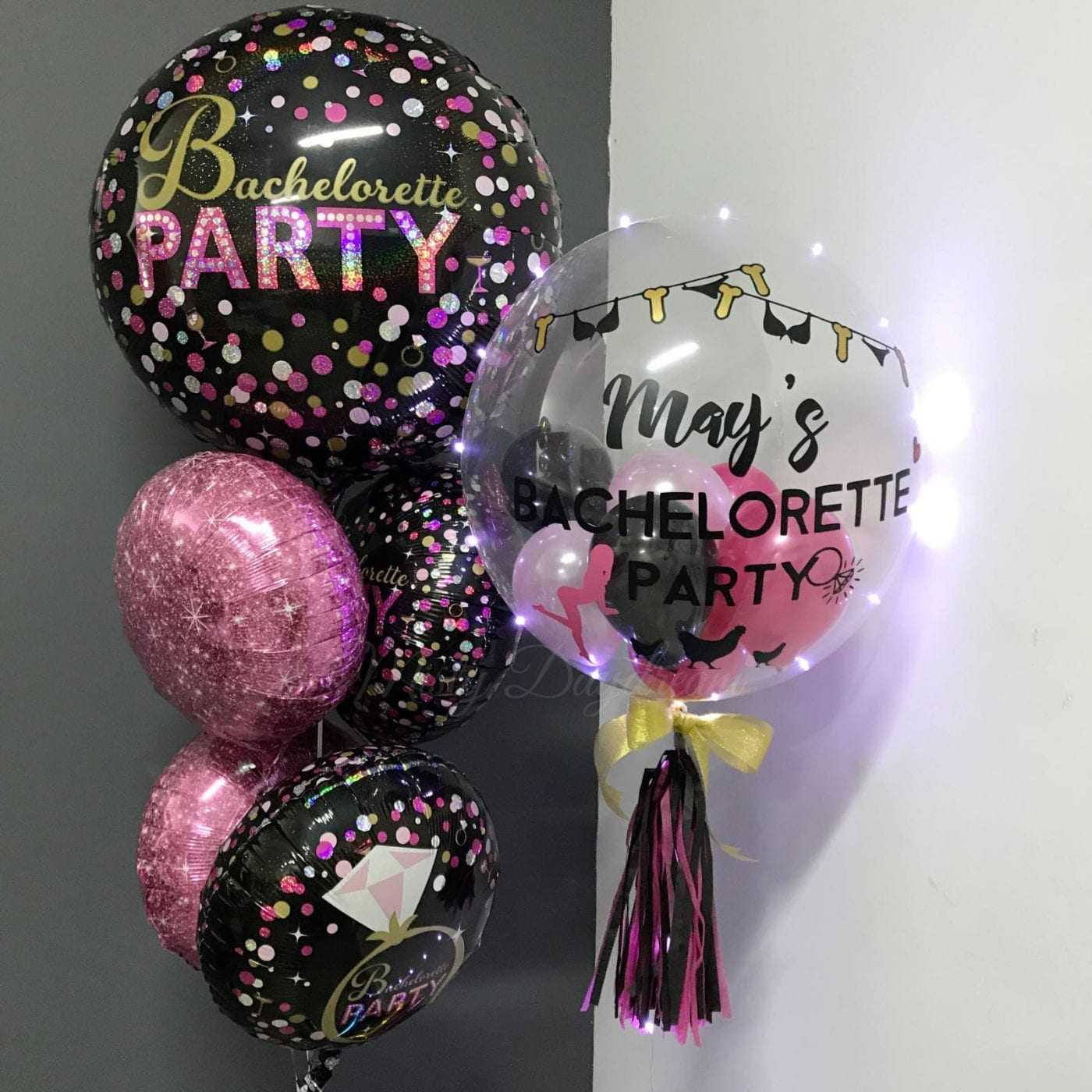 Bachelorette Party 24 Inch Personalized Bubble Balloon