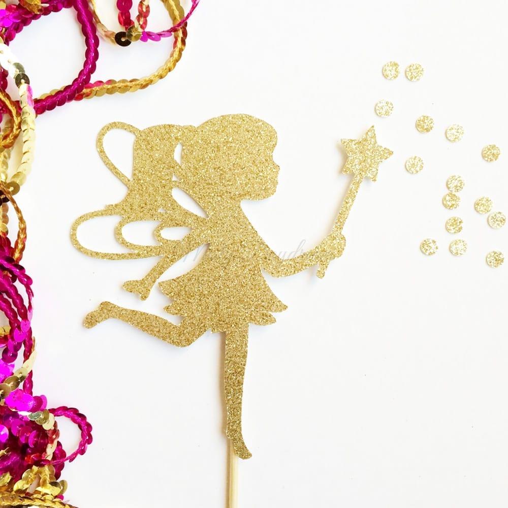 Fairy Gold Glitters Cake Topper Misty Daydream