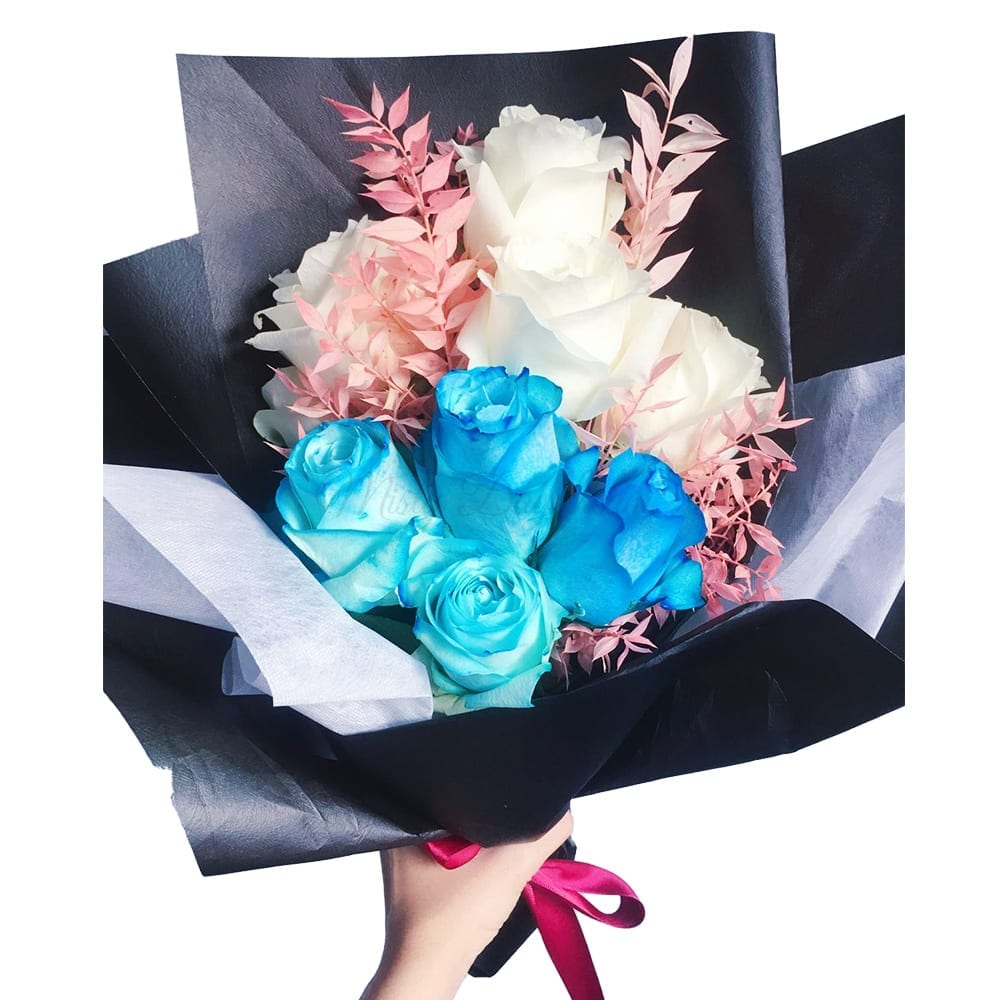 Blue Romance Flower Bouquet