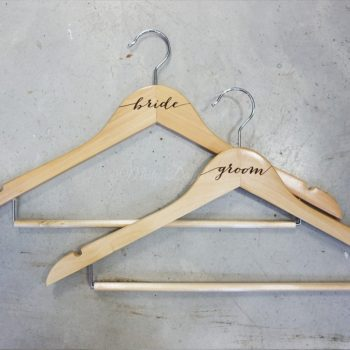 Engraved Groom BrideCustom Wedding Wooden Hanger