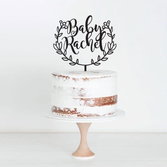 Baby Custom Name Cake Topper Misty Daydream