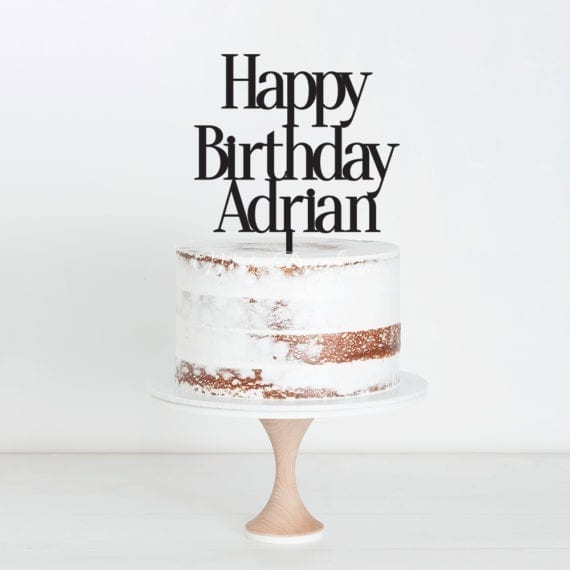 Happy Birthday Custom Name Design 1