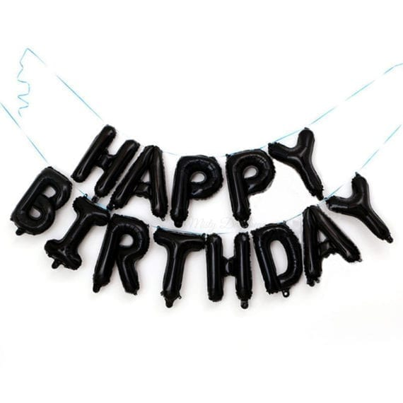 16 Inch HAPPY BIRTHDAY Letter Foil Balloons Banner