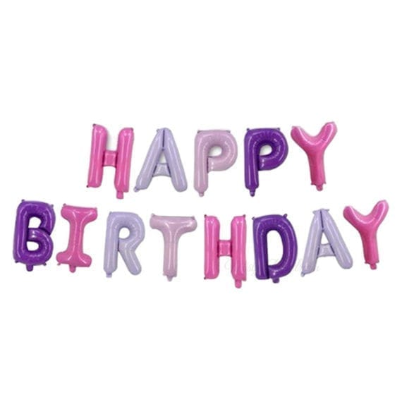16 Inch Happy Birthday Letter Foil Balloons Banner Candy