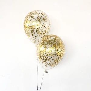 Metallic-Gold confetti balloons