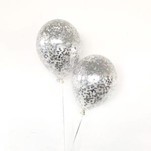 Confetti Metallic Silver