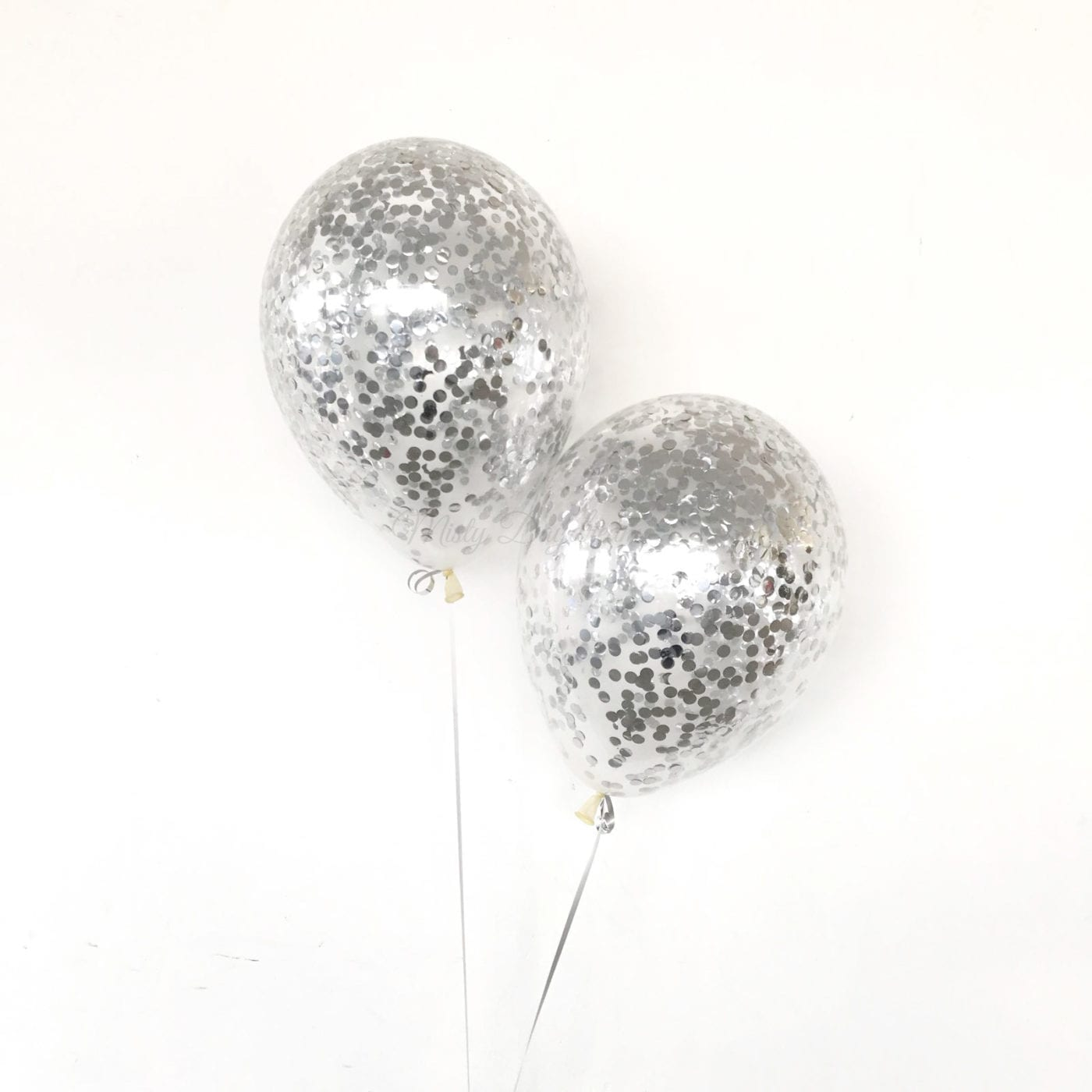 Helium Inflated Balloons 12 Inch 1cm Confetti Latex