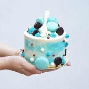 Ombre Macarons Cake