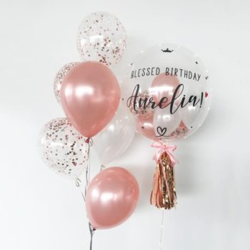 Custom balloons with confetti mini balloons