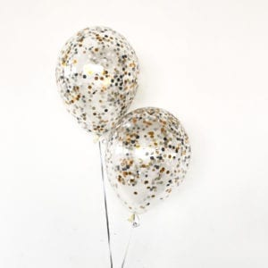 glam-and-Edgy confetti balloons
