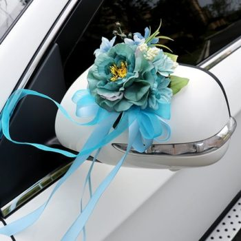 Wedding Car Ribbon - Blue