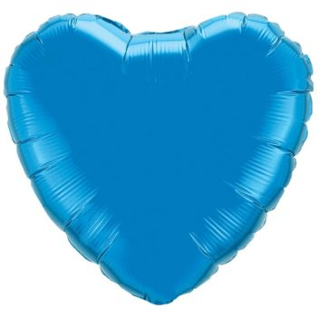 Dark Blue Heart Foil Balloons
