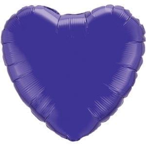 Dark Purple Heart Foil Balloons