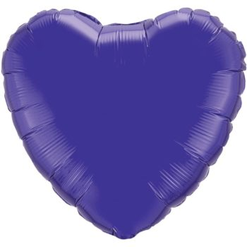 Dark Purple Heart Foil Balloons