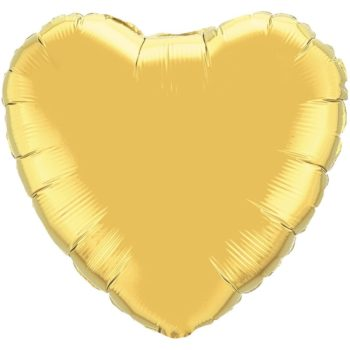 Gold Heart Foil Balloons