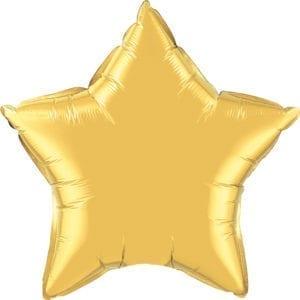 Gold Star Foil Balloons
