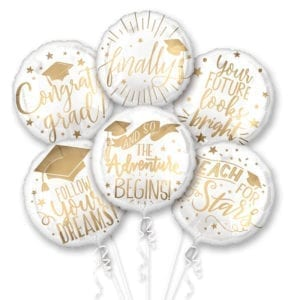 Grad Messages Foil Balloons