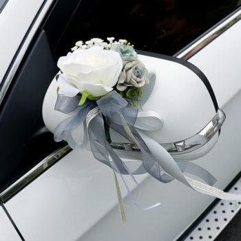 Wedding Car Ribbon - Grey