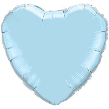 Light Blue Heart Foil balloons