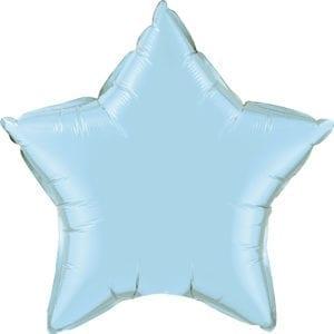 Light Blue Star Foil Balloons
