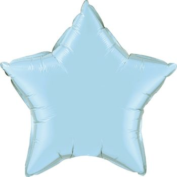 Light Blue Star Foil Balloons