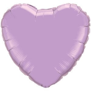 Light Purple Heart Foil balloons