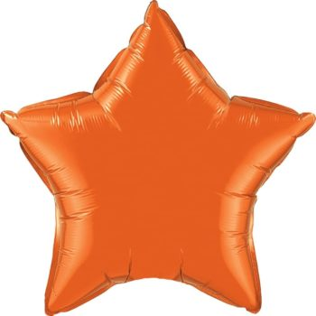 Orange Star Foil Balloons