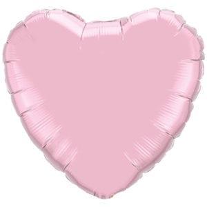 Light Pink Heart Foil balloons