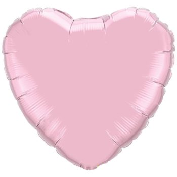 Light Pink Heart Foil balloons