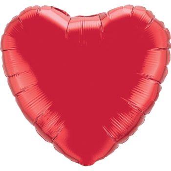 Red Heart Foil balloons