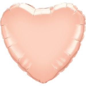 Rose Gold Heart Foil Balloons
