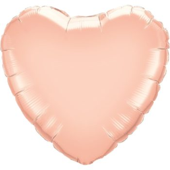 Rose Gold Heart Foil Balloons