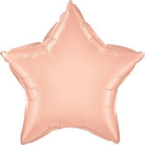 Rose Gold Star Foil Balloons