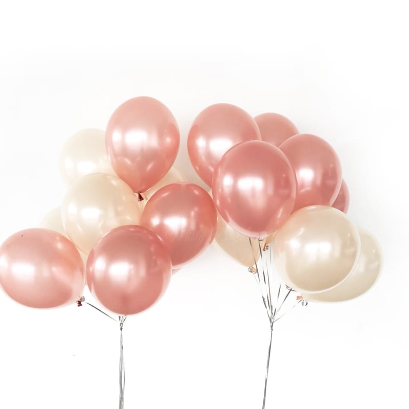 Helium Inflated Balloons Pearl Metallic 12 Inch Latex