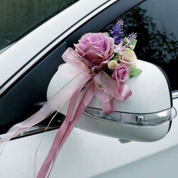 Wedding Car Ribbon - Violet