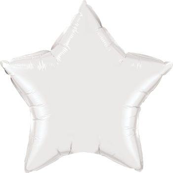 White Star Foil Balloons