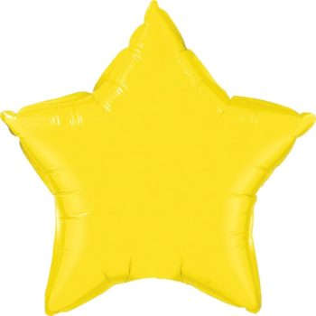 Yellow Star Foil Balloons