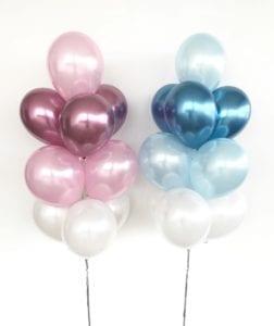 Chrome helium balloons