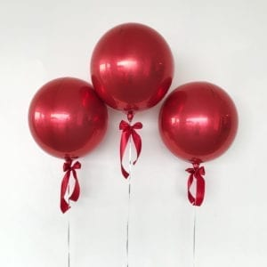 Red Orbz balloons