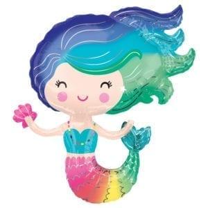 Mermaid foil balloons