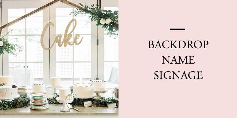 Backdrop Name Signage