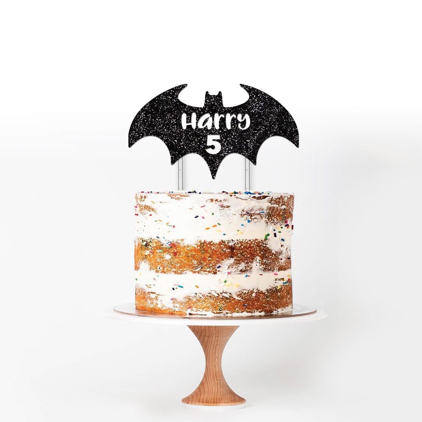 Batman Custom Name And Age Cake Topper