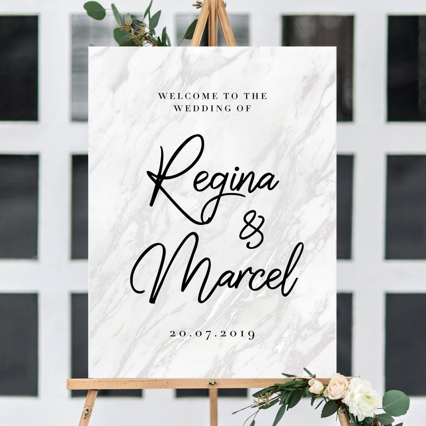 Wedding Welcome Sign.Wedding Welcome Sign Design 15 Marble Foam Board
