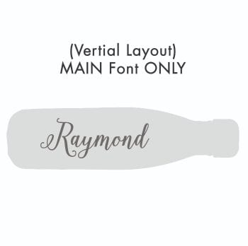 Vertical Text – Main Font ONLY