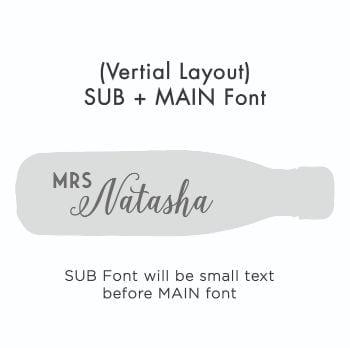 Vertical Text – SUB + MAIN Font