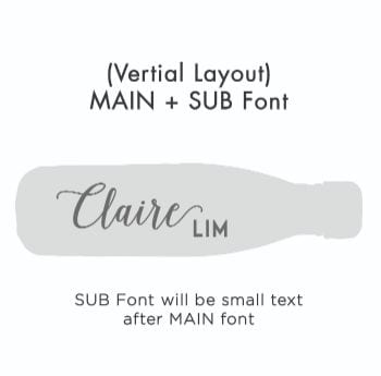 Vertical Text – MAIN + SUB Font