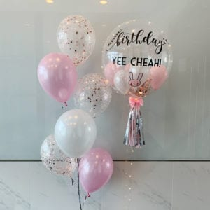 Bunny customised balloons