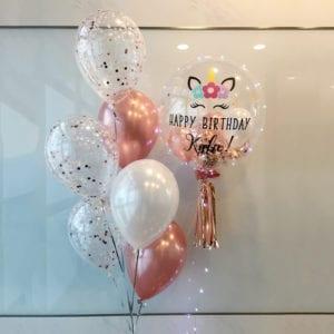Flower Unicorn customised balloons