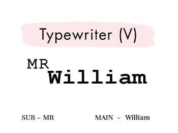 Typewriter (V)