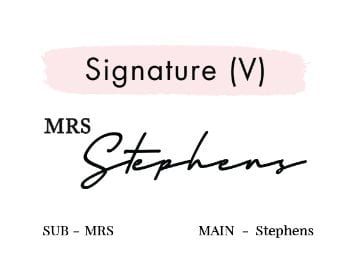 Signature (V)